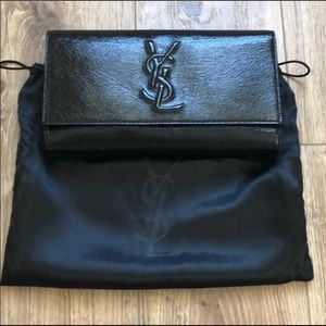 Yves Saint Laurent beautiful leather clutch
